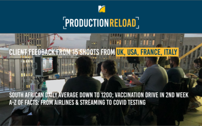 Facts & client feedback from 15 shoots for UK, USA, France and Italy as South African daily average Covid numbers right down by 92%